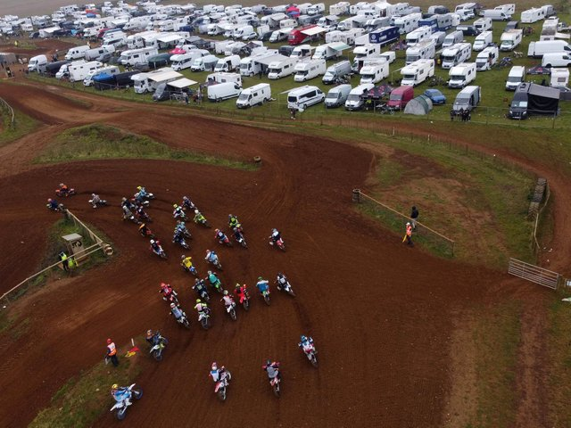 Race day at the Wroxton Motocross track which lies between Balscote and Hornton
