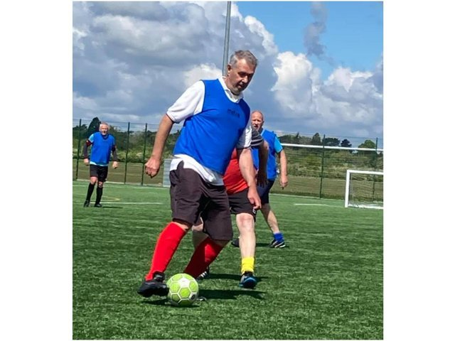 Walking Football's coming home to Banbury (Image of the Bicester Fossils Walking Football Club players and photo from Cherwell District Council)