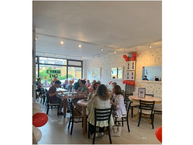 Sarah Heath has relaunched her cafe and renamed it - Henry's Cafe - in memory of her grandfather, Henry Arthur McGill, a World War Two veteran.