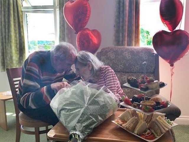 Longtime Bloxham couple - Roy, 89, and Una Timms, 87, - reunited with help of Banbury care home - Larkrise Care Centre.