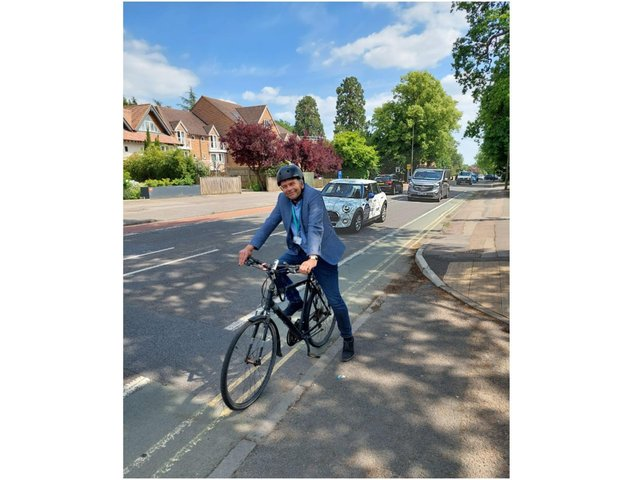 Cllr Andrew Gant was named Oxfordshire County Council's new Cycling Champion (Image from Oxfordshire County Council)