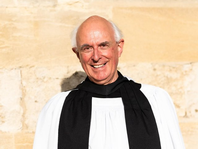 Rev John Tattersall who was made an Honorary Canon at Christ Church, Oxford last week