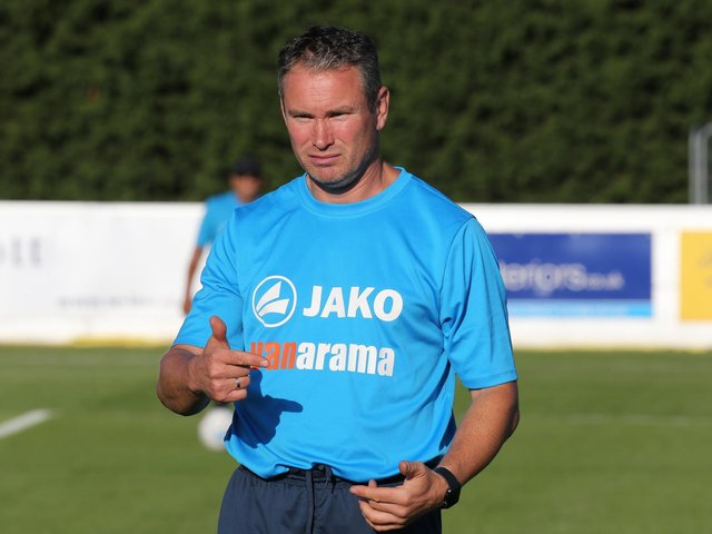 Kevin Wilkin's Brackley Town will be on the road on the opening day of the National League North season