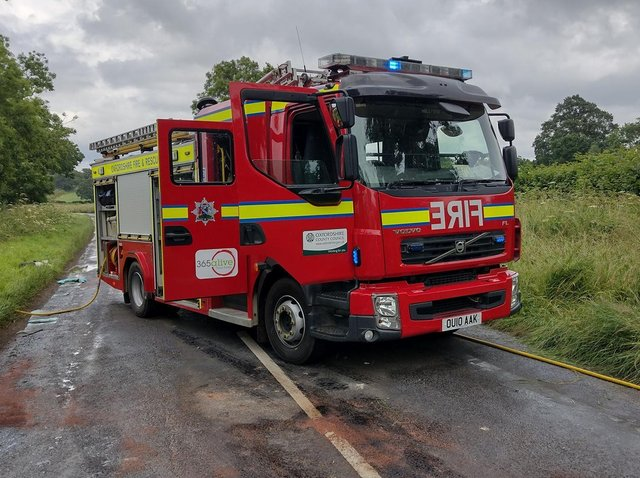 A traffic advisory has been issued and a Banbury area road closed while authorities respond to an emergency incident near Deddington. (Image from the Deddington Fire Station Facebook page)