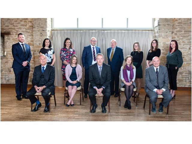 Staff and partners at Banbury accountancy firm Whitley Stimpson are celebrating 90 years in business. Pictured: From left to right - back row – Luke Wiseman, Marie Morgan, Rebecca Craker, Ian Parker, Owen Kyffin, Vicky Ireson, Nicola Hicks, and Victoria Marzana. Front row left to right – Malcolm Higgs, Laura Adkins, Martin Anson, Laura Herbert, Jonathan Walton. (Submitted photo)