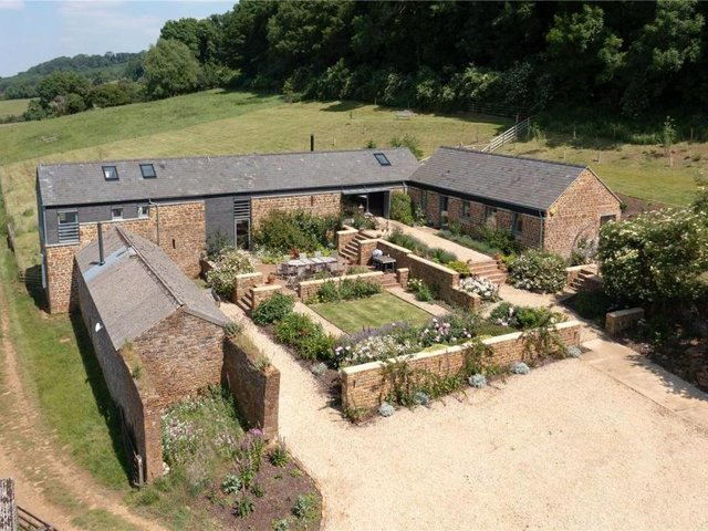 This barn conversion called Greyfell house has come on the market near Edgehill, Banbury (Image from Rightmove)