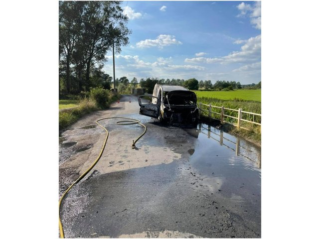 Oxfordshire Fire and Rescue firefighters from Bicester attended a van alight yesterday afternoon (Wednesday July 14) in Somerton.