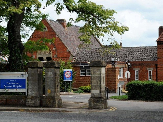 Face masks and social distancing requirements remain in place at Banbury's Horton General and all Oxfordshire hospitals from Monday July 19 (File Banbury Guardian photo)