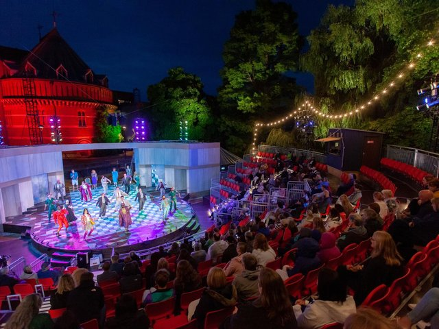 The production is staged in the RSC's new Garden Theatre (photo: Pete Le May)