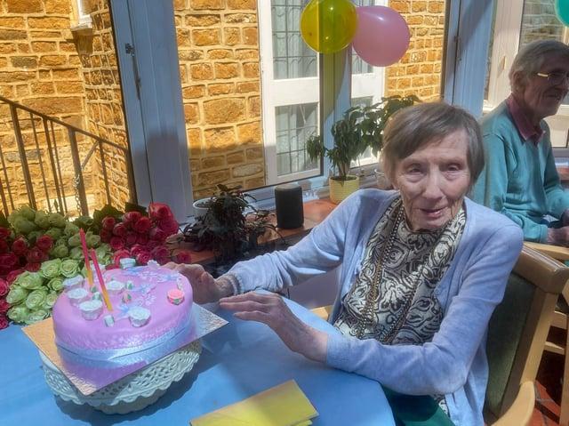 Joan Hearmon, a resident at Deddington care home - Featherton House - celebrated her 101st birtdhay
