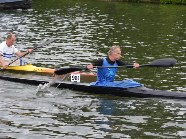 Robin Avery leading Brian Greenham at Reading